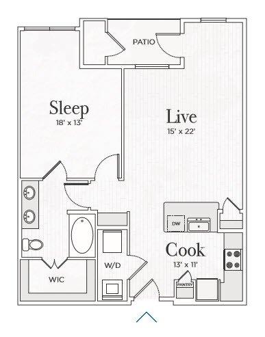 1 Bedroom 1 Bathroom Apartment for rent at Ravello Stonebriar in Frisco, TX