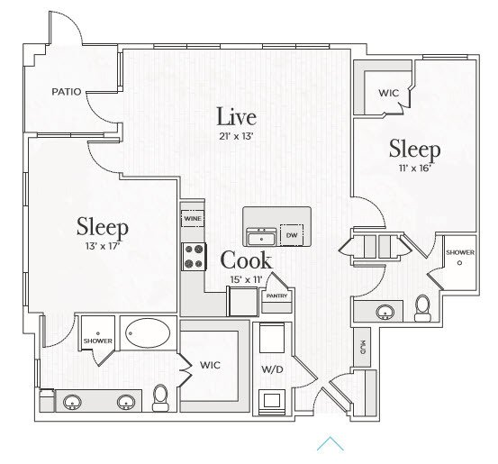 2 Bedrooms 2 Bathrooms Apartment for rent at Ravello Stonebriar in Frisco, TX