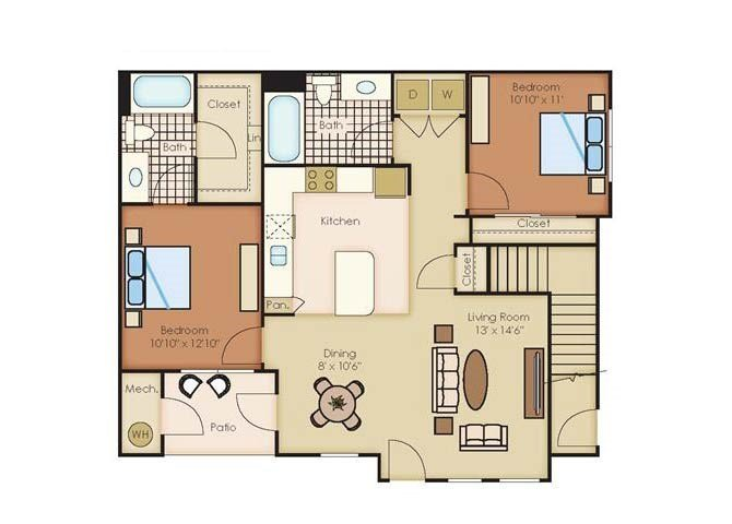 2 Bedrooms 2 Bathrooms Apartment for rent at Outlook Littleton in Littleton, CO