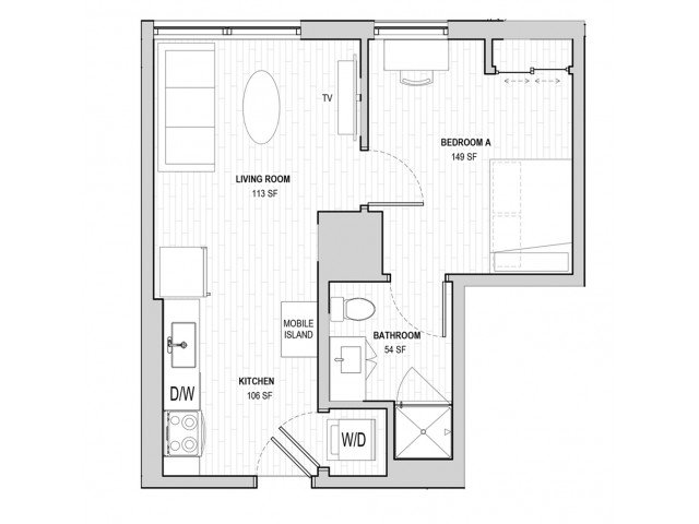 1 Bedroom 1 Bathroom Apartment for rent at Student Housing - HERE State College in State College, PA