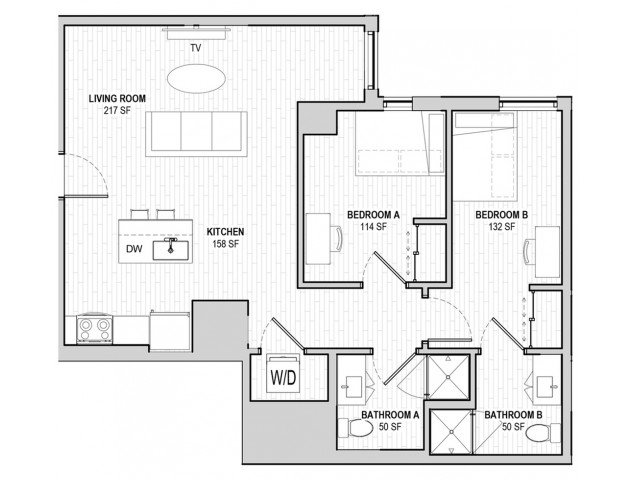 2 Bedrooms 2 Bathrooms Apartment for rent at Student Housing - HERE State College in State College, PA