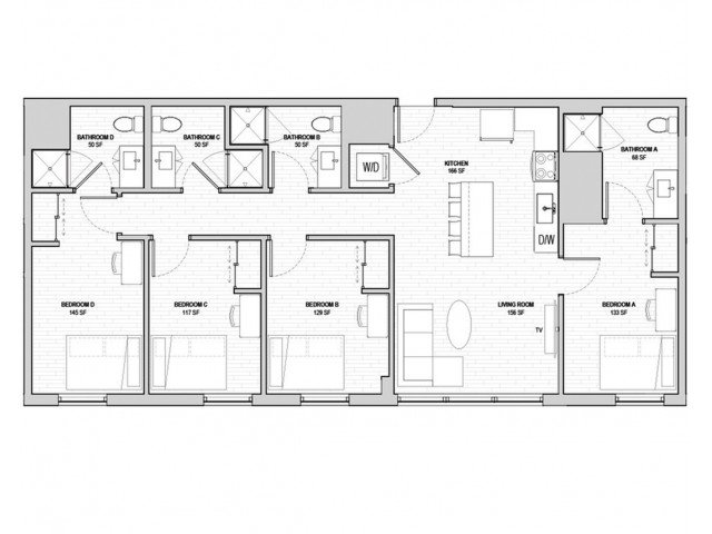 4 Bedrooms 4+ Bathrooms Apartment for rent at Student Housing - HERE State College in State College, PA