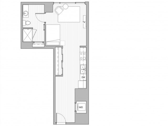 Studio 1 Bathroom Apartment for rent at The Link Minneapolis Tower in Minneapolis, MN