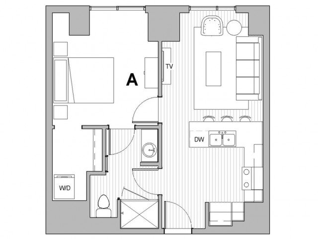 1 Bedroom 1 Bathroom Apartment for rent at The Link Minneapolis Tower in Minneapolis, MN