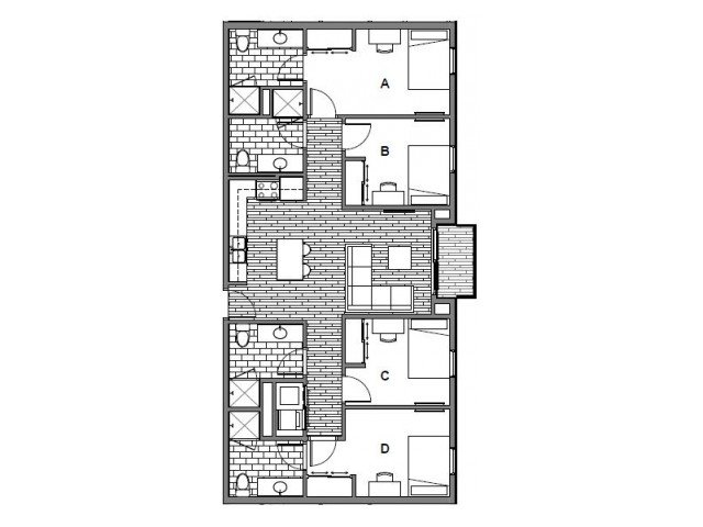 4 Bedrooms 4+ Bathrooms Apartment for rent at Student Housing - Onyx in Tallassee, FL