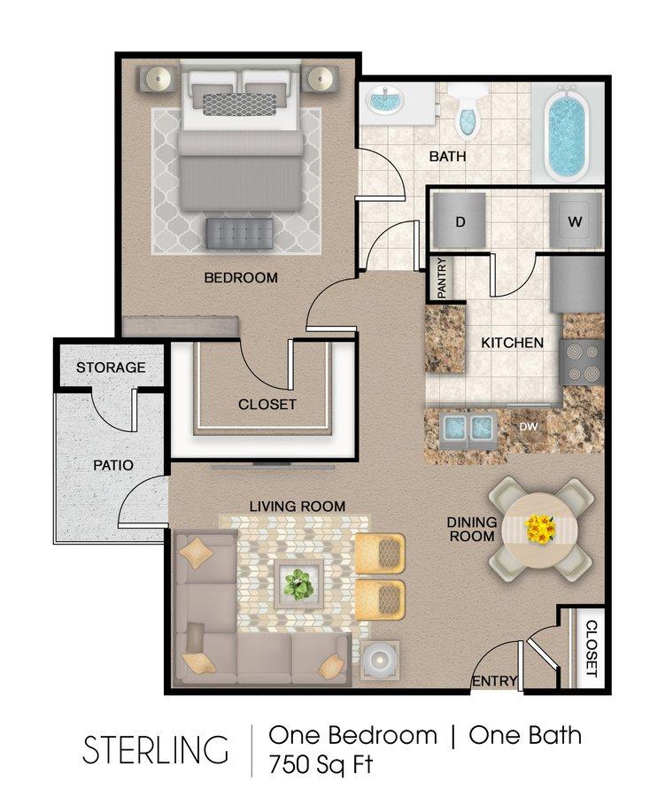1 Bedroom 1 Bathroom Apartment for rent at Mission Del Rio Apartment Homes in San Antonio, TX