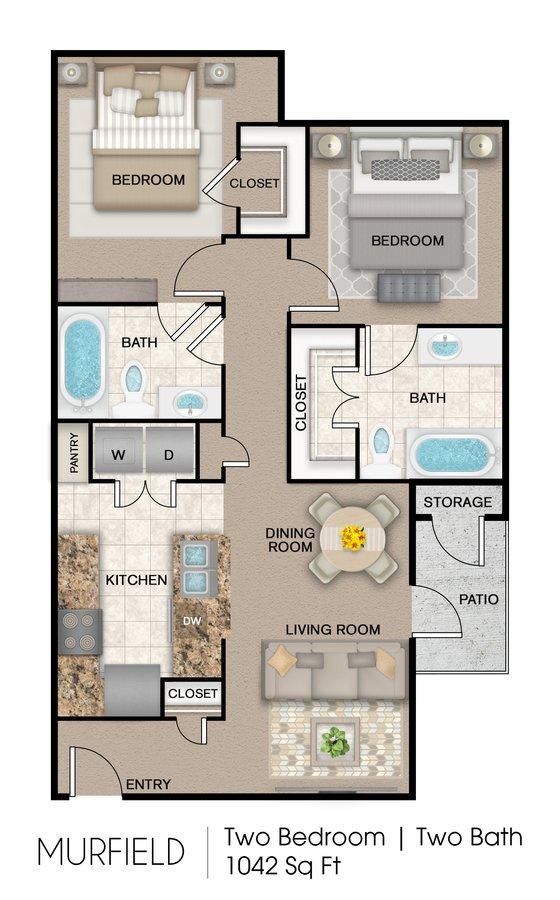2 Bedrooms 2 Bathrooms Apartment for rent at Mission Del Rio Apartment Homes in San Antonio, TX