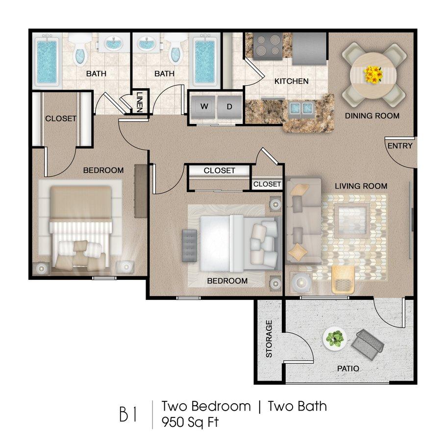 2 Bedrooms 2 Bathrooms Apartment for rent at Palo Alto Apartment Homes in San Antonio, TX
