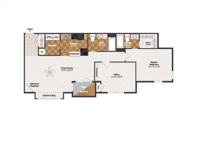 1 Bedroom 2 Bathrooms Apartment for rent at Centennial Station in Cincinnati, OH