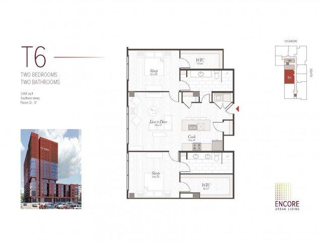 2 Bedrooms 2 Bathrooms Apartment for rent at Encore in Cincinnati, OH