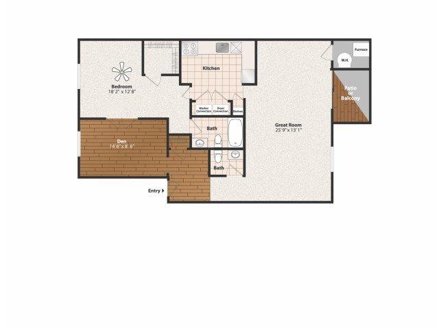 1 Bedroom 1 Bathroom Apartment for rent at Olde Montgomery in Cincinnati, OH