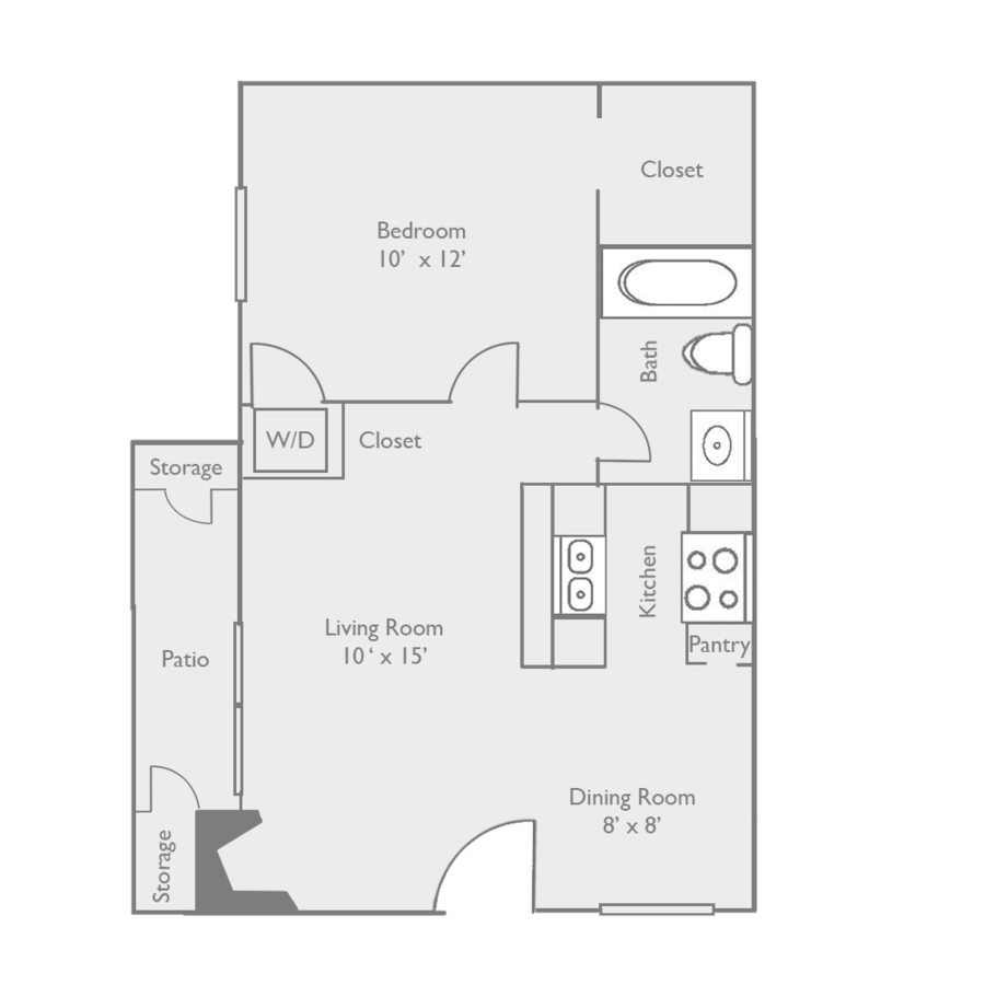 1 Bedroom 1 Bathroom Apartment for rent at Toscana Apartments in Dallas, TX