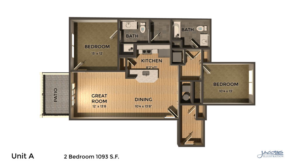 2 Bedrooms 2 Bathrooms Apartment for rent at East Pointe Apartments in Ithaca, NY