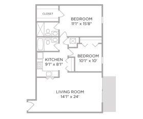 2 Bedrooms 2 Bathrooms Apartment for rent at Village of Coldstream in Cincinnati, OH
