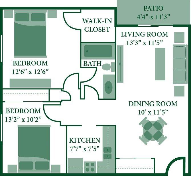 2 Bedrooms 1 Bathroom Apartment for rent at Twin Pines in Cincinnati, OH