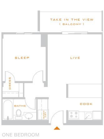 1 Bedroom 1 Bathroom Apartment for rent at Skyline 1801 in Denver, CO