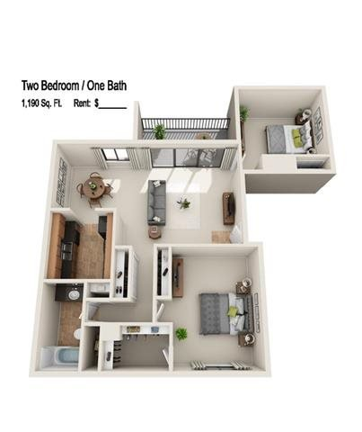 2 Bedrooms 1 Bathroom Apartment for rent at The Aura in Indianapolis, IN