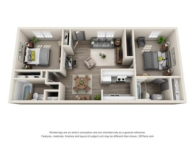 2 Bedrooms 2 Bathrooms Apartment for rent at The Eclipse in Indianapolis, IN
