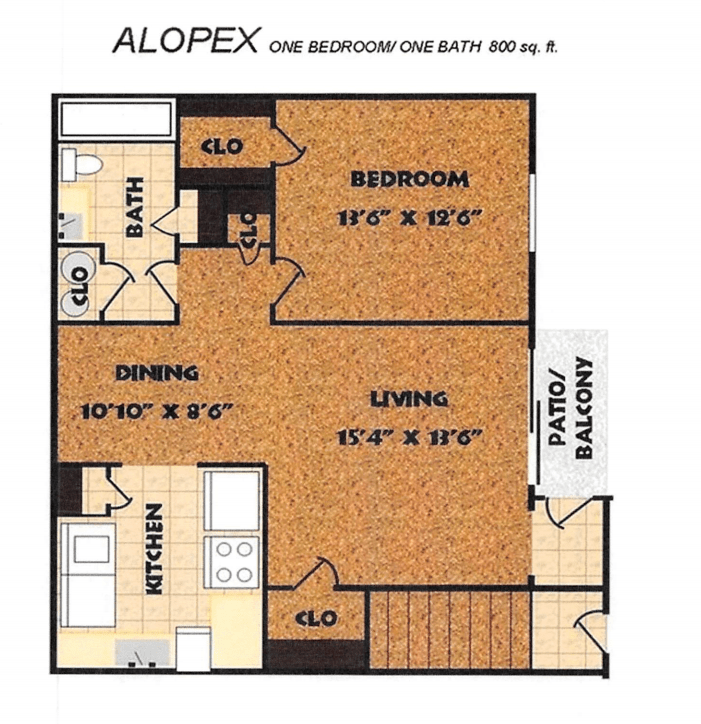 1 Bedroom 1 Bathroom Apartment for rent at Fox Club in Indianapolis, IN