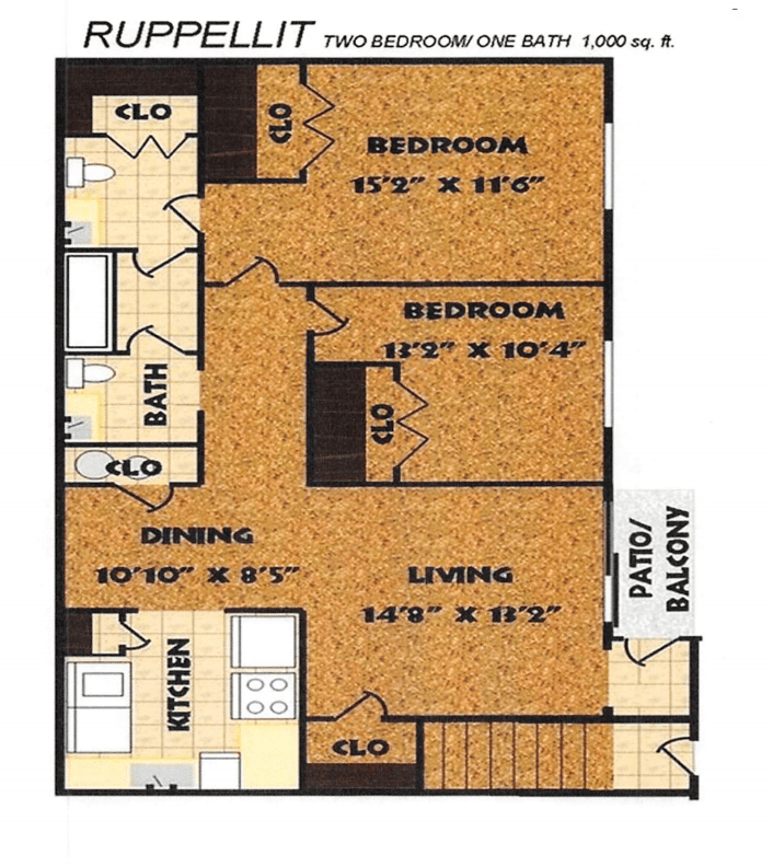 2 Bedrooms 2 Bathrooms Apartment for rent at Fox Club in Indianapolis, IN