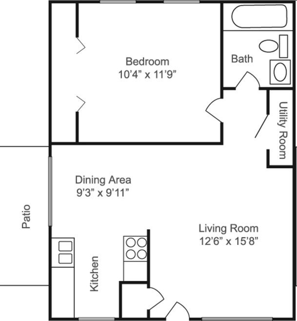 1 Bedroom 1 Bathroom Apartment for rent at Estates At Crystal Bay in Indianapolis, IN