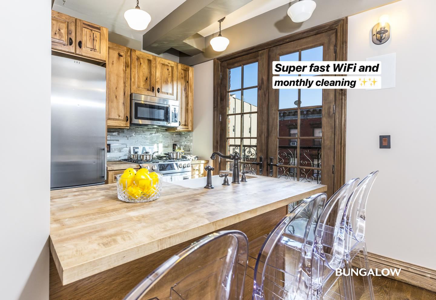 Private Room in Gorgeous Williamsburg Triplex with Private Terrace for rent