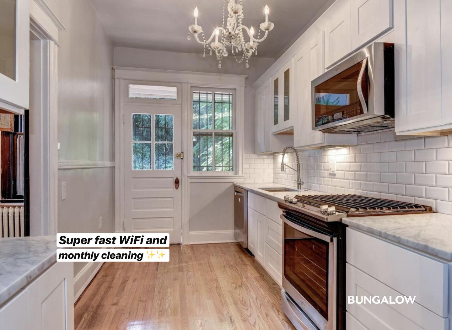 Private Bedroom in Stylish Columbia Heights Townhome With Brick Patio photo