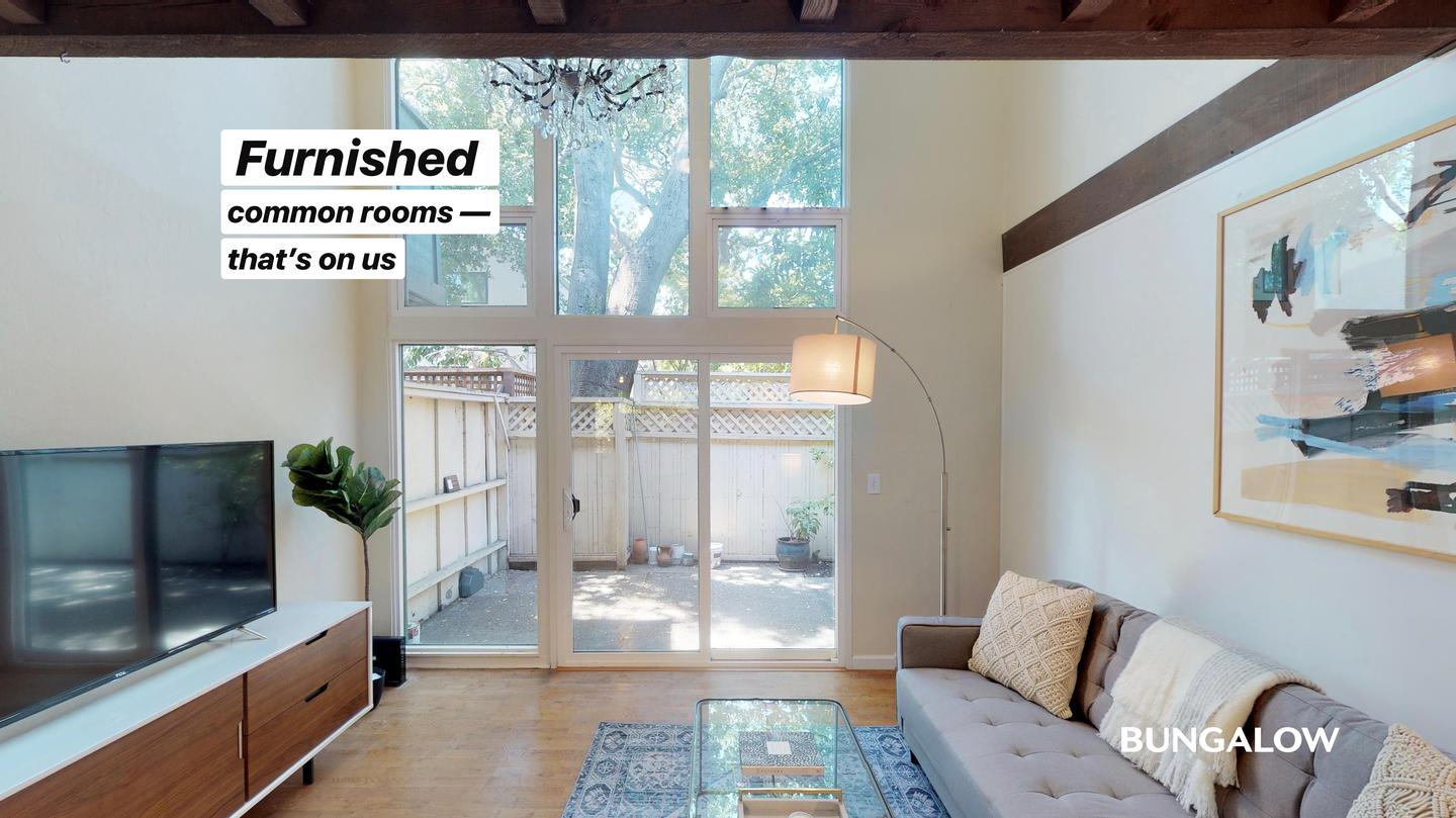 Private Bedroom in Classic Old Palo Alto Home With Shaded Side Patio rental