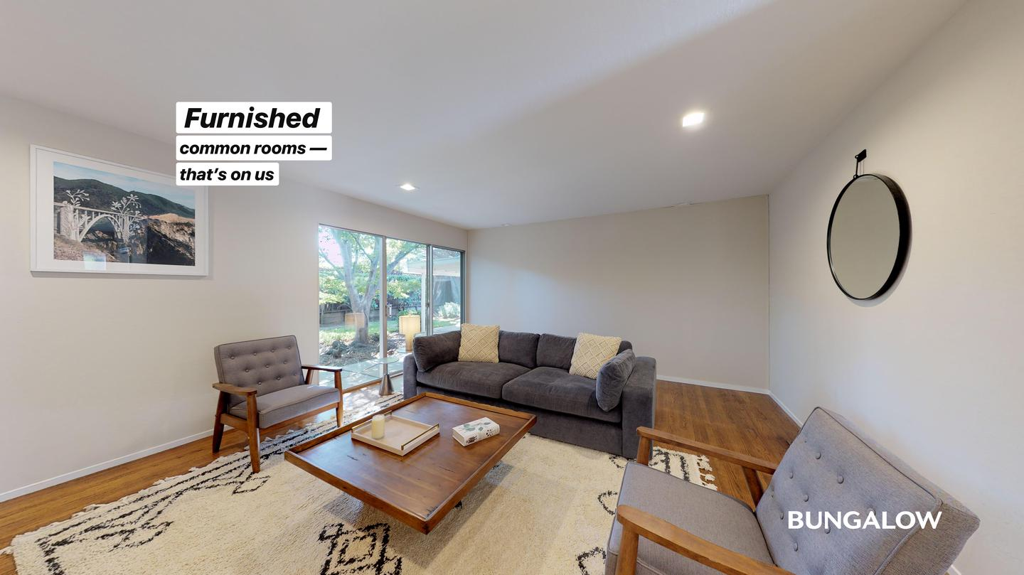 Private Bedroom in Bright Mountain View Home With Spacious Backyard rental