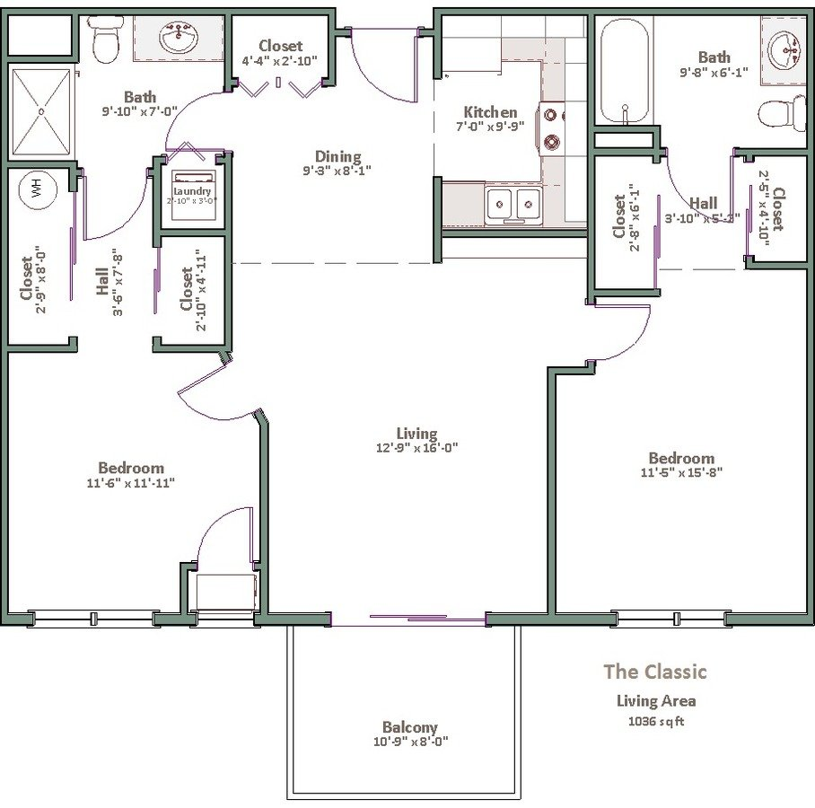2 Bedrooms 2 Bathrooms Apartment for rent at The Franklin in Milwaukee, WI