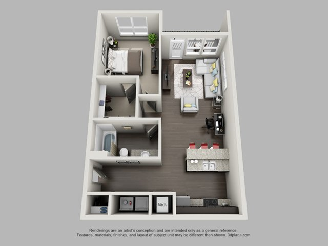 1 Bedroom 1 Bathroom Apartment for rent at Heritage at Oakley Square in Cincinnati, OH