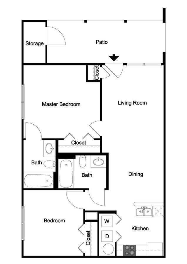 2 Bedrooms 2 Bathrooms Apartment for rent at Ivy Hollow in Charlotte, NC