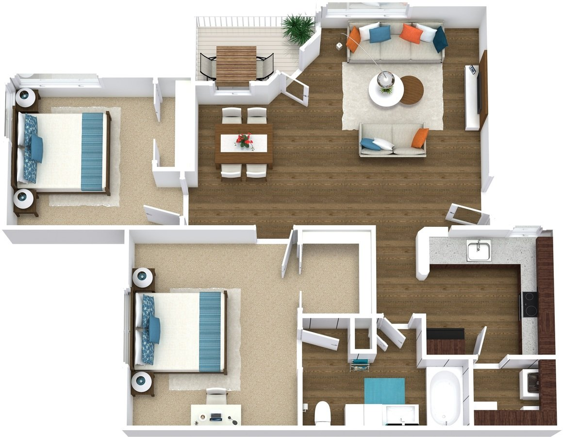 2 Bedrooms 1 Bathroom Apartment for rent at Arcadia Cove in Phoenix, AZ