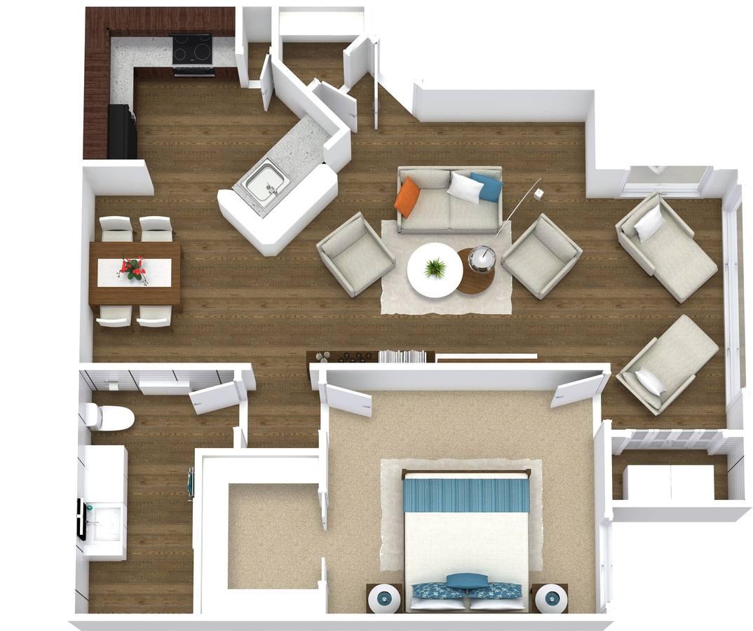 1 Bedroom 1 Bathroom Apartment for rent at Arcadia Cove in Phoenix, AZ