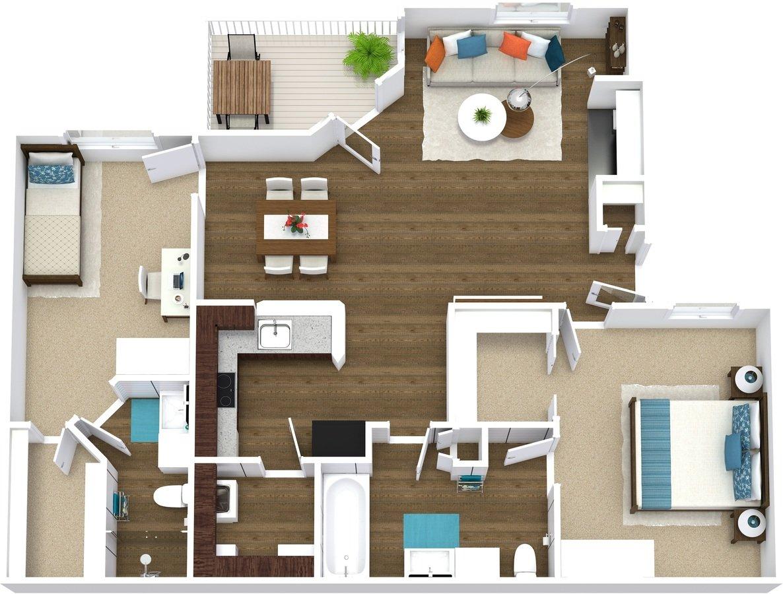 2 Bedrooms 2 Bathrooms Apartment for rent at Arcadia Cove in Phoenix, AZ