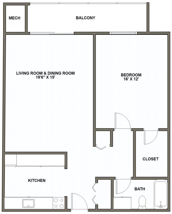 1 Bedroom 1 Bathroom Apartment for rent at Claybourne in Pittsburgh, PA