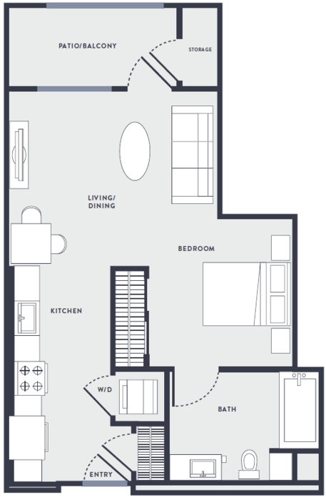Studio 1 Bathroom Apartment for rent at Anton Aspire in Milpitas, CA