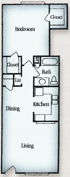 1 Bedroom 1 Bathroom Apartment for rent at Tara Oaks in Houston, TX