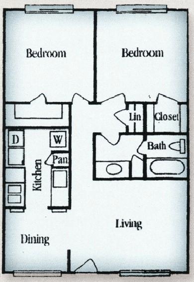 2 Bedrooms 1 Bathroom Apartment for rent at Tara Oaks in Houston, TX
