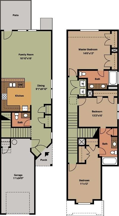 3 Bedrooms 2 Bathrooms Apartment for rent at Woodgate Townhomes in Conroe, TX
