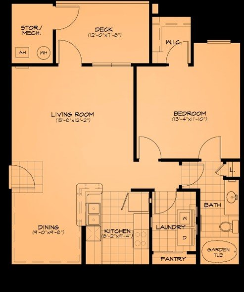 1 Bedroom 1 Bathroom Apartment for rent at Cliff Creek Apartments in Fayetteville, NC