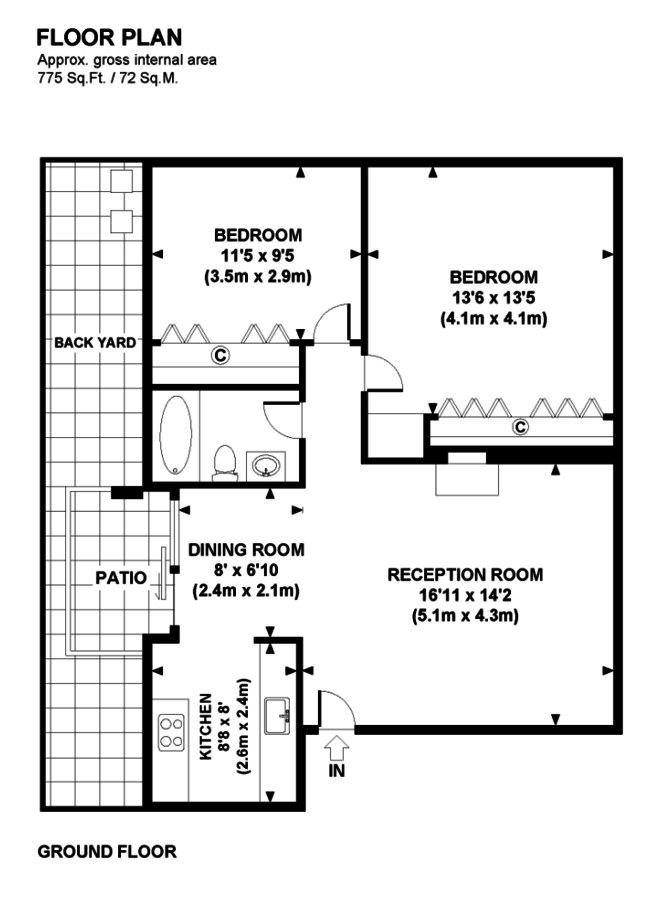 2 Bedrooms 1 Bathroom Apartment for rent at Villa Maria in Riverside, CA