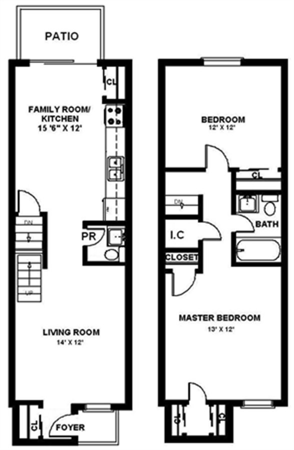 2 Bedrooms 1 Bathroom Apartment for rent at Parkwood Manor Townhomes in Hilton, NY