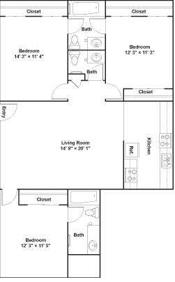 3 Bedrooms 2 Bathrooms Apartment for rent at Luna Blanca {Casa Feliz} in Dallas, TX