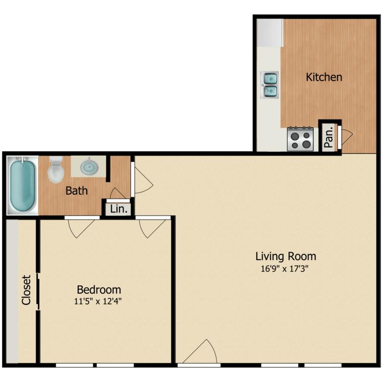 1 Bedroom 1 Bathroom Apartment for rent at Luna Blanca {Casa Feliz} in Dallas, TX