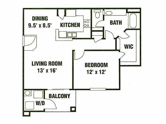 1 Bedroom 1 Bathroom Apartment for rent at Eagle Ridge Apartments in San Antonio, TX