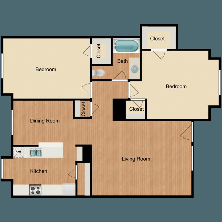 2 Bedrooms 1 Bathroom Apartment for rent at Veranda Apartments in San Antonio, TX