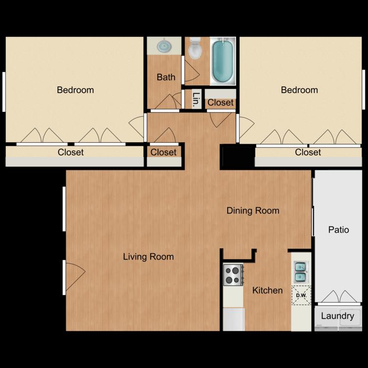 2 Bedrooms 1 Bathroom Apartment for rent at Ashler Oaks in San Antonio, TX