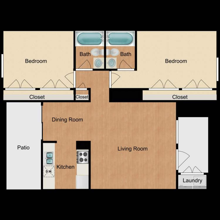 2 Bedrooms 2 Bathrooms Apartment for rent at Ashler Oaks in San Antonio, TX