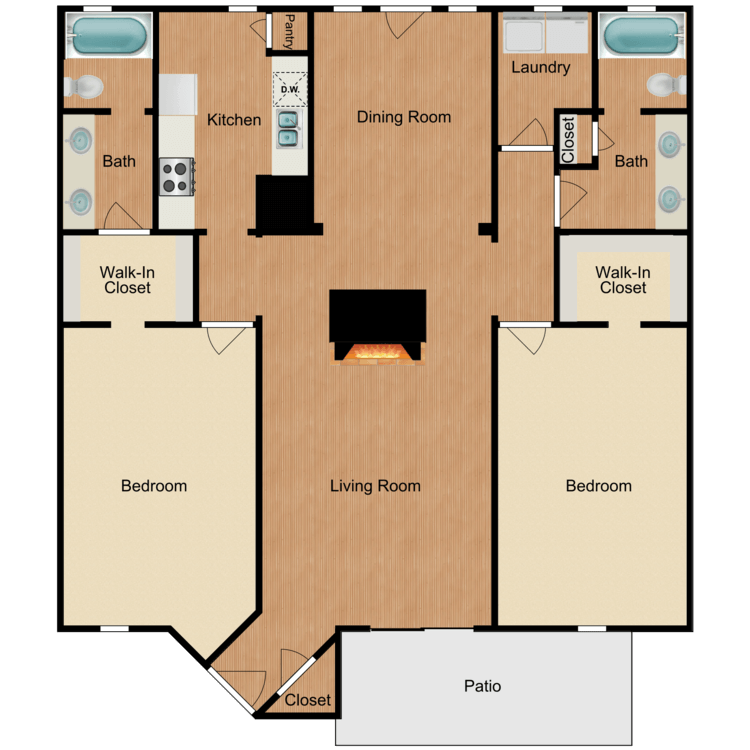 2 Bedrooms 2 Bathrooms Apartment for rent at Sierra Royale in San Antonio, TX